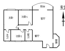 惠东县平山金星花园3房2厅毛坯出售