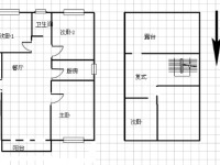 鲤鱼花园复式4房2厅毛坯出售