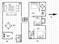 龙门花苑套间3房2厅简单装修出售